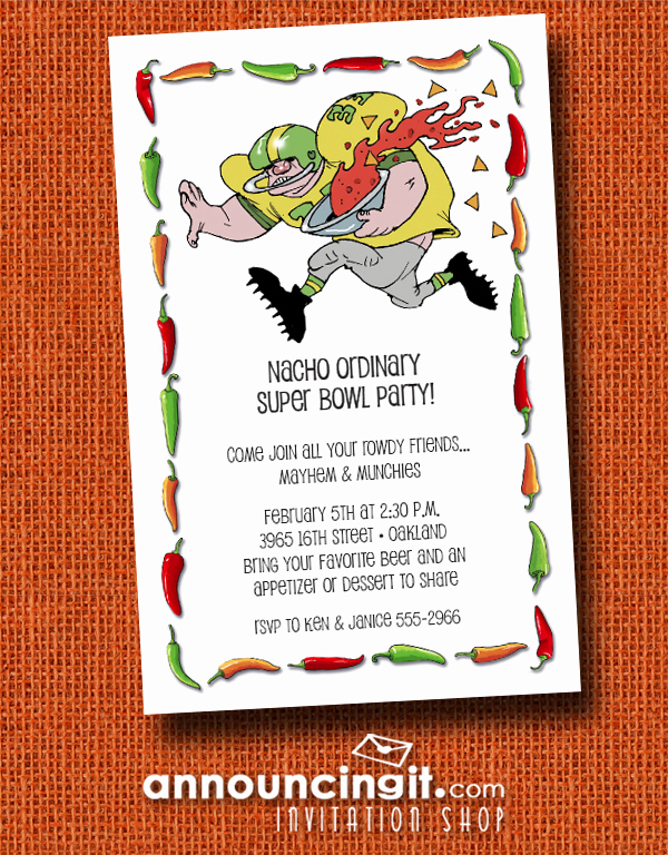 Superbowl Party Invitation Wording Luxury Salsa Run Super Bowl Party Invitations