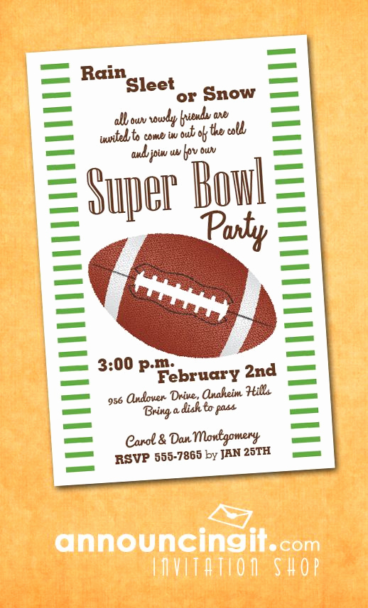 Superbowl Party Invitation Wording New Super Bowl Party Invitations From Announcingit