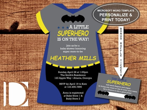 Superhero Baby Shower Invitation Templates Best Of Superhero Baby Shower Invitation Esie by Dereimerdesign
