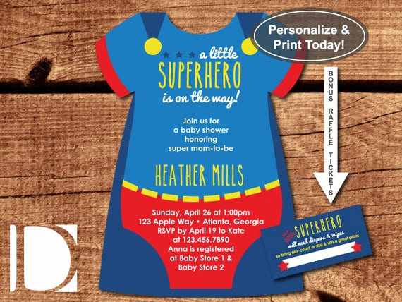 Superhero Baby Shower Invitation Templates Elegant Superhero Baby Shower Invitation Esie by Dereimerdesign