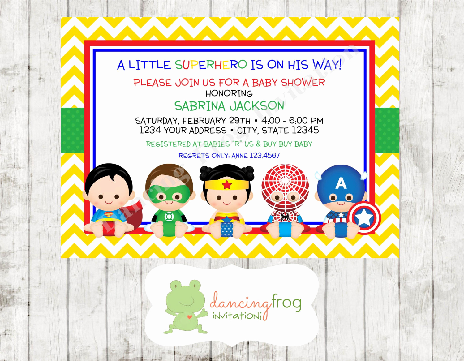 Superhero Baby Shower Invitation Templates Fresh Superhero Baby Shower Invitation Custom by Dancingfroginvites