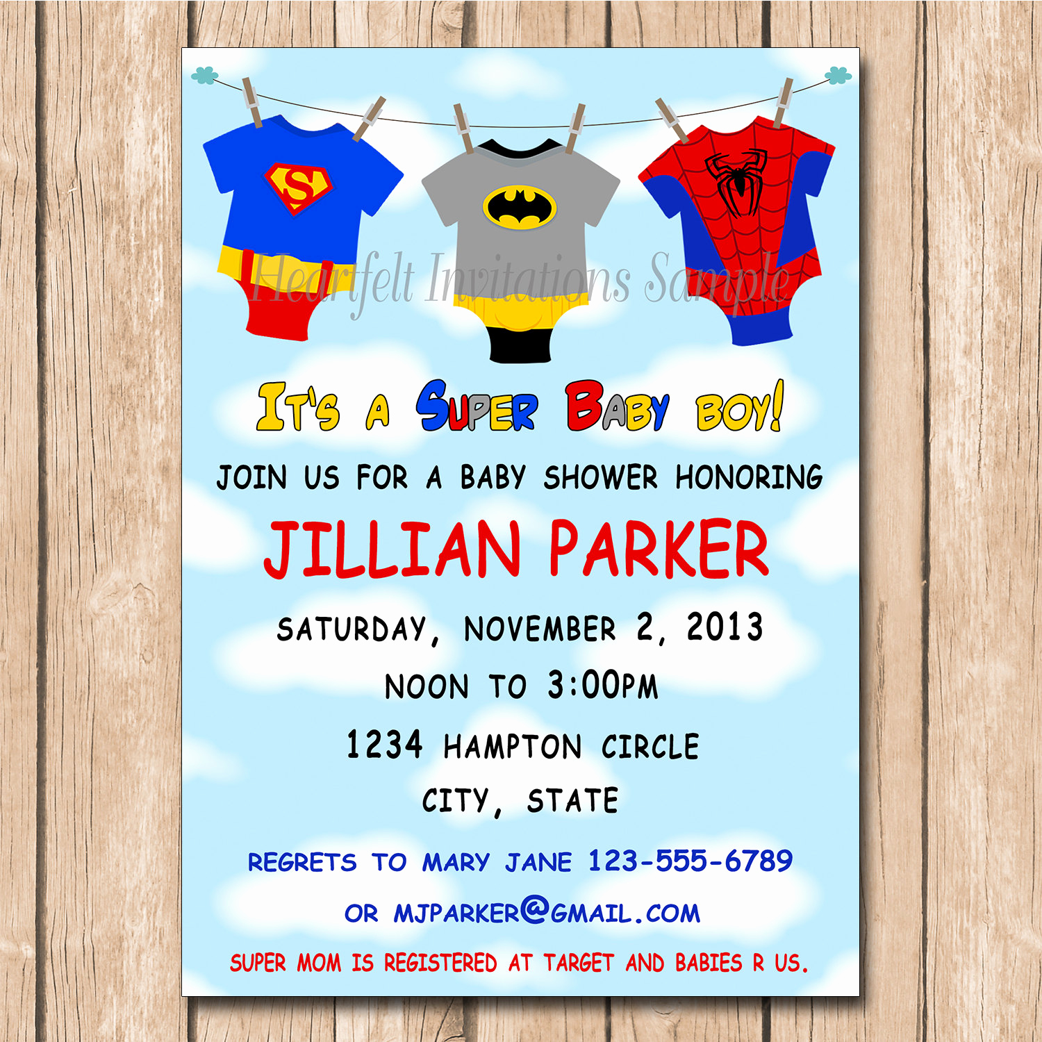 Superhero Baby Shower Invitation Templates Inspirational Super Baby Shower Invitation Super Hero by