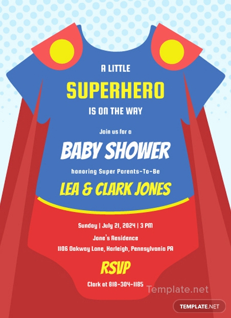 Superhero Baby Shower Invitation Templates Lovely Floral Baby Shower Template In Ms Word Publisher