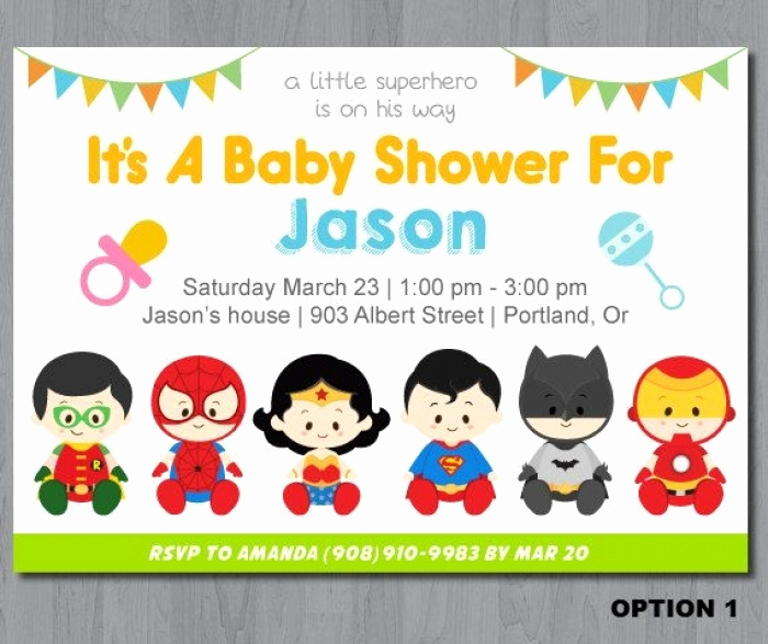 Superhero Baby Shower Invitation Templates New Inspiring Superhero Baby Shower Invitation Templates