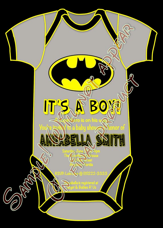 Superhero Baby Shower Invitation Templates Unique Superhero Batman Baby Shower It S A Boy Party by Craftyhooves