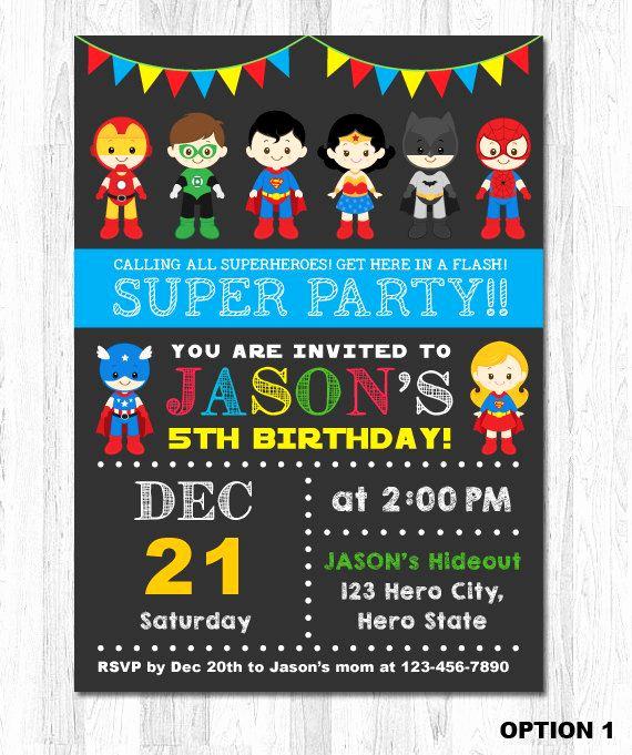 Superhero Birthday Invitation Template Beautiful Superhero Invitation Superhero Birthday Invitation Super