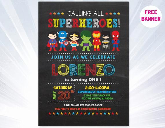 Superhero Birthday Invitation Template Best Of Super Hero Invitation Superhero Invitation Templates
