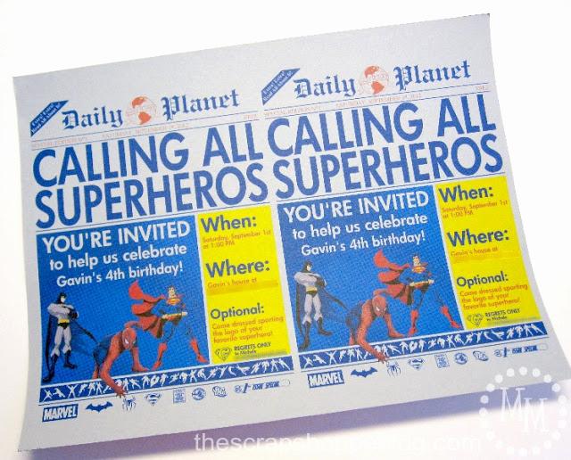 Superhero Birthday Invitation Template Elegant Superhero Newspaper Birthday Invitation the Scrap Shoppe