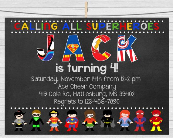 Superhero Birthday Invitation Template Fresh 1000 Ideas About Superhero Invitations On Pinterest