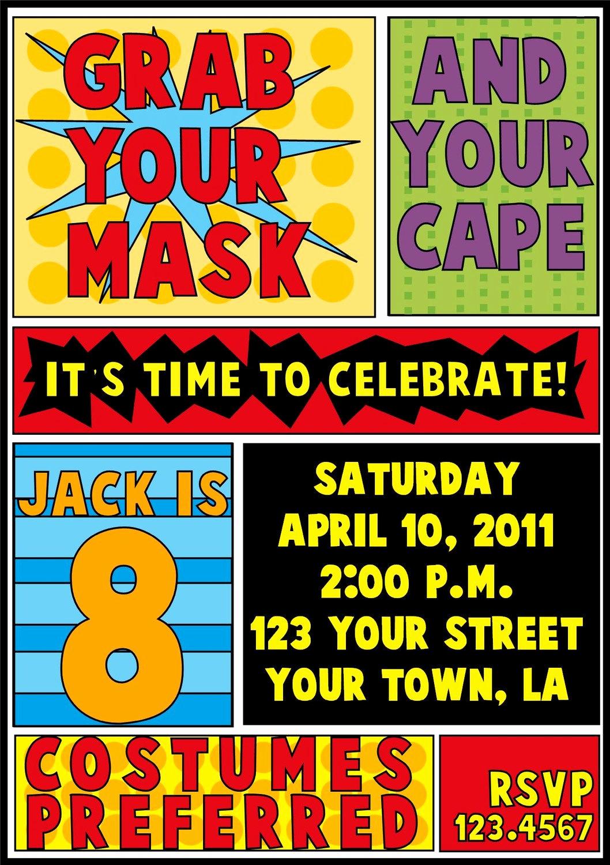 Superhero Birthday Invitation Template Fresh Superhero Birthday Invitation