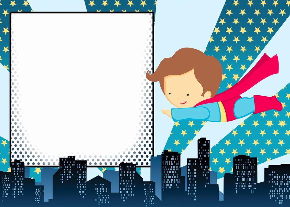Superhero Birthday Invitation Template Inspirational 12 Blank Superhero Birthday