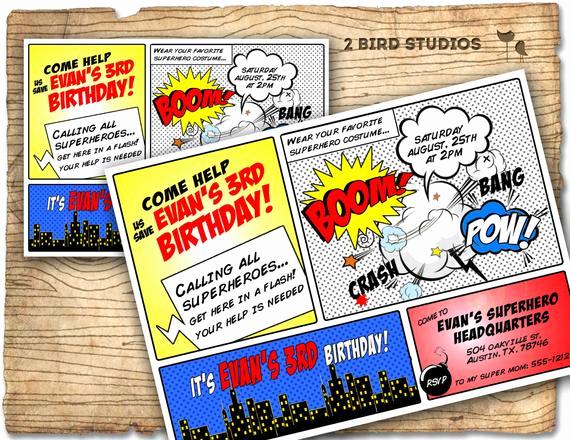 Superhero Birthday Invitation Template Inspirational Superhero Invitation Superhero Birthday Invite Diy