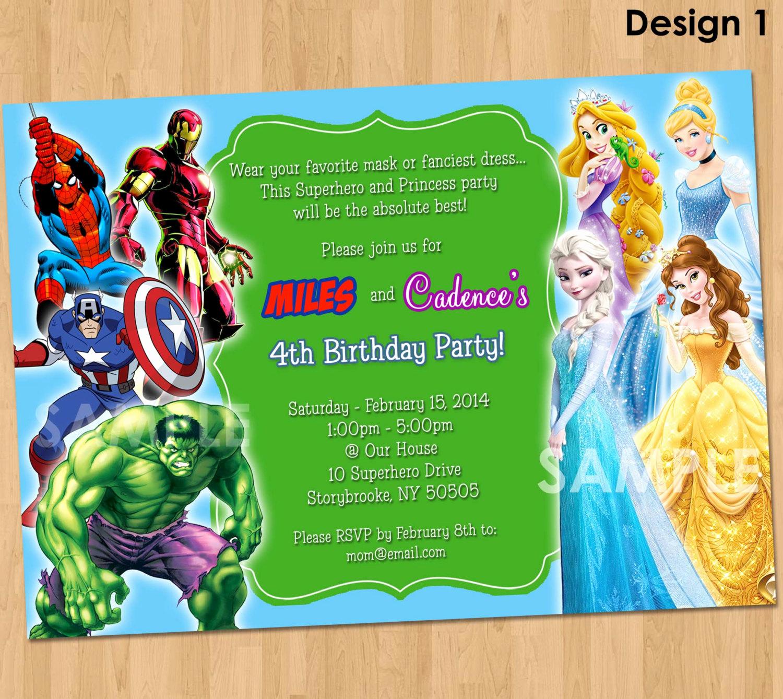 Superhero Birthday Invitation Template Lovely Free Printable Superhero Birthday Invitations – Free
