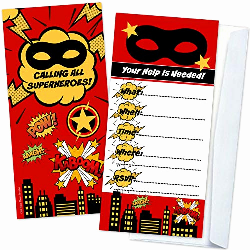 Superhero Birthday Invitation Template Lovely the Old Blue Door top Gifts for Kids