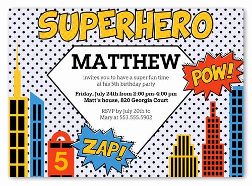 Superhero Birthday Invitation Template Luxury Superhero Birthday Invitations