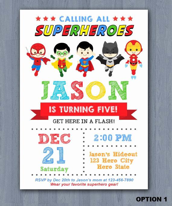 Superhero Birthday Invitation Template New Superhero Birthday Invitation Superhero Invitation