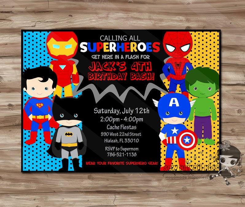 Superhero Birthday Invitation Template New Superhero Invitation Superhero Invitation Superhero Invitation