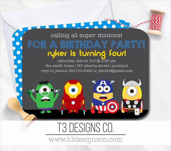 Superhero Birthday Invitation Template Unique 30 Superhero Birthday Invitation Templates Psd Ai