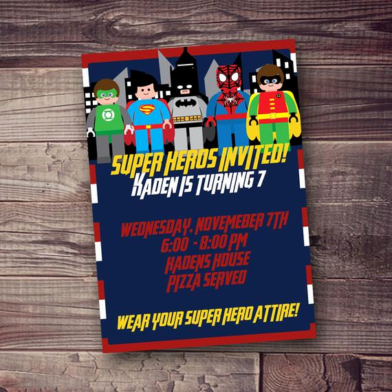 Superhero Birthday Invitation Wording Awesome Superhero Birthday Invitation with Free by Amyssimpledesigns