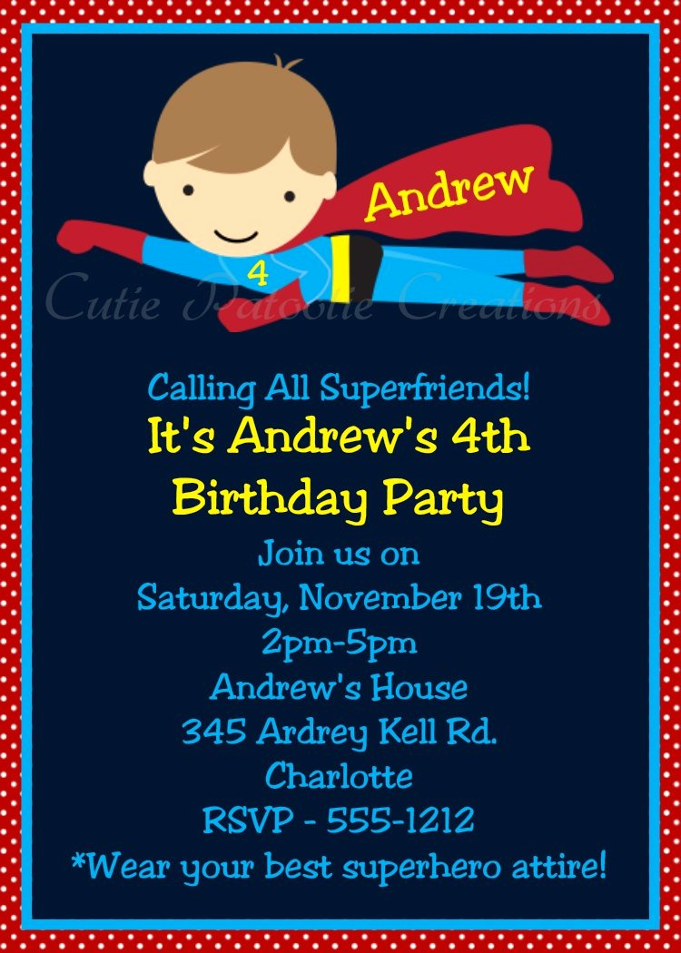 Superhero Birthday Invitation Wording Awesome Superhero Birthday Invitations Printable Templates