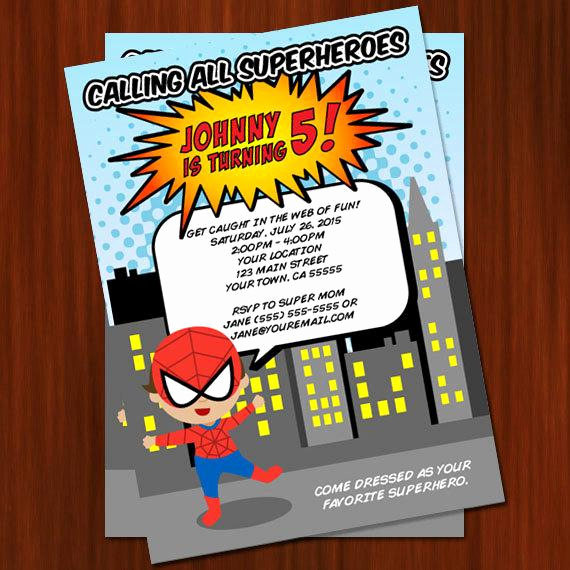 Superhero Birthday Invitation Wording Beautiful Super Hero Birthday Invitation Printable Diy