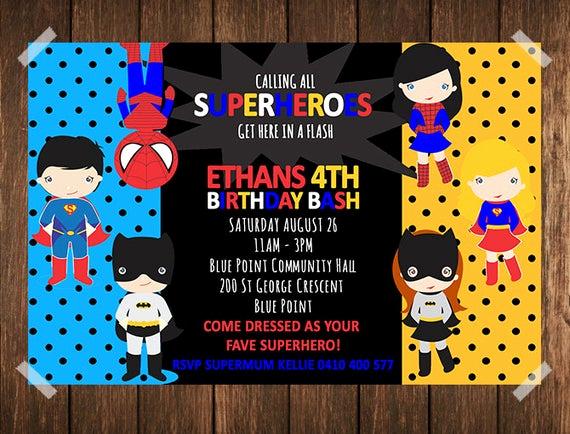 Superhero Birthday Invitation Wording Beautiful Superhero Birthday Invitation Superhero Invitation