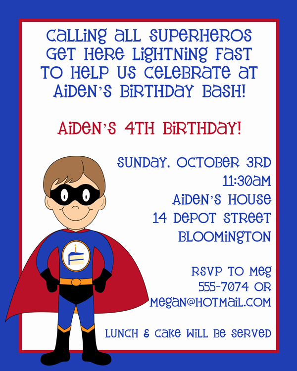 Superhero Birthday Invitation Wording Beautiful Superhero Birthday Party Invite Got for Jake S 4th