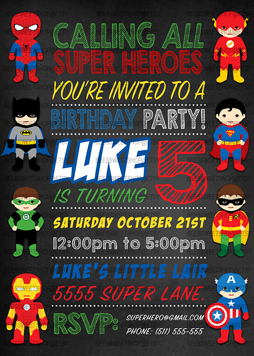 Superhero Birthday Invitation Wording Elegant Superhero Birthday Invitations Printable Digital by