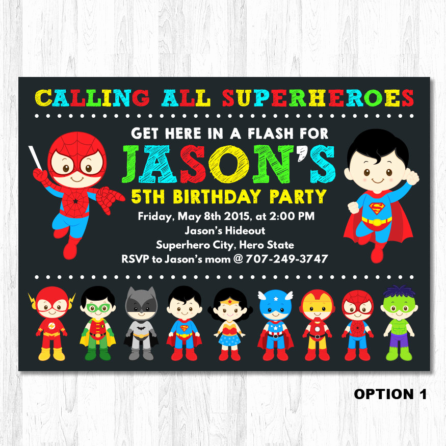 Superhero Birthday Invitation Wording Inspirational Superhero Birthday Invitation Superhero Boy by Kidzparty