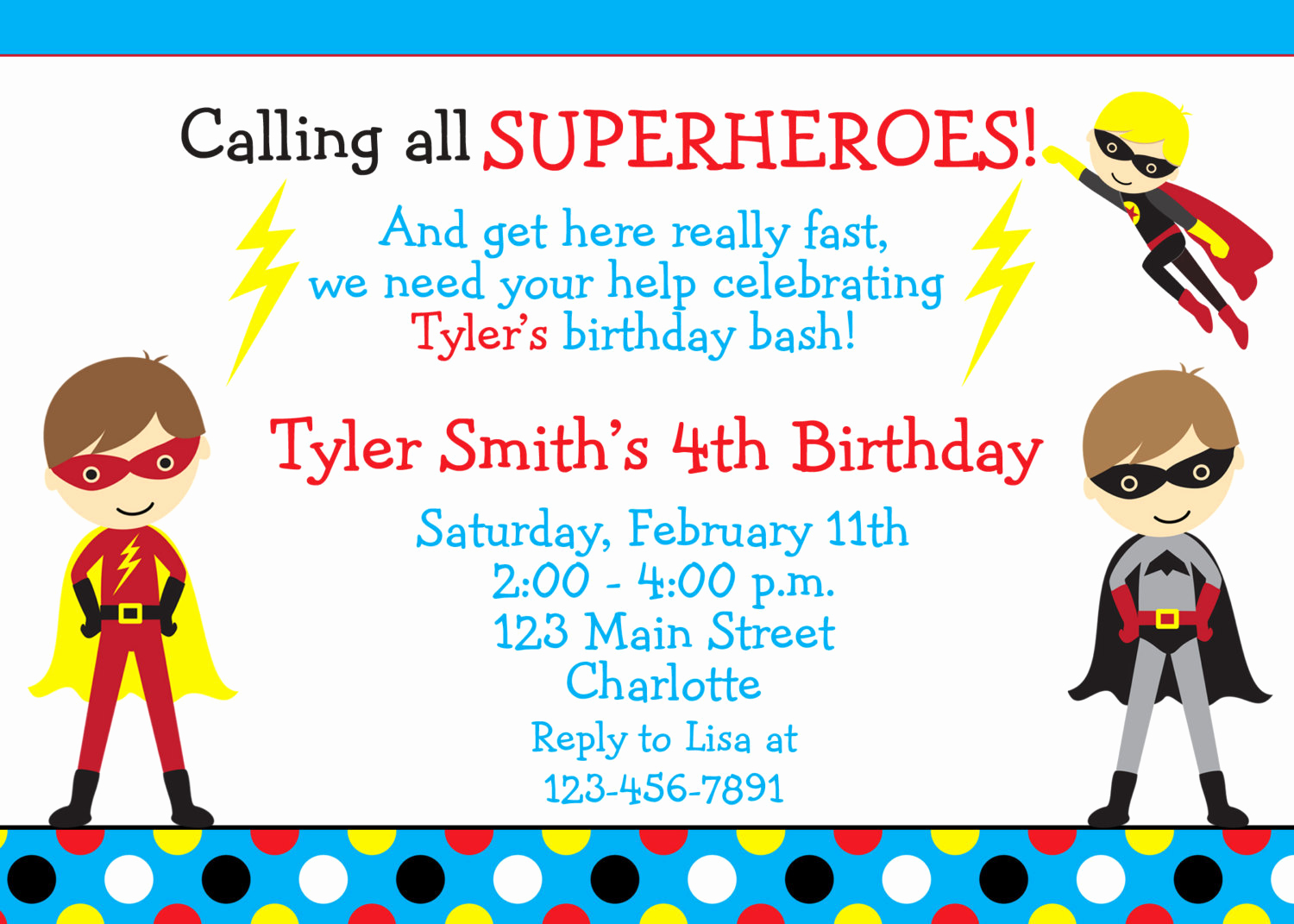 Superhero Birthday Invitation Wording Lovely Superhero Birthday Party Invitation Super Hero Superheros