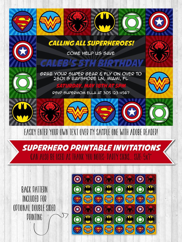 Superhero Birthday Invitation Wording Lovely Superhero Party Invitation – Wonderbash