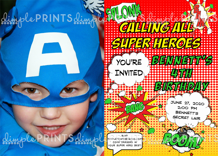 Superhero Birthday Invitation Wording Luxury Superhero Printable Invitation Dimple Prints Shop
