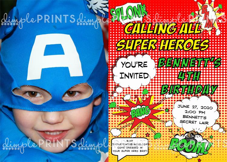 Superhero Birthday Invitation Wording Luxury Superhero Printable Invitation Dimple Prints Shop