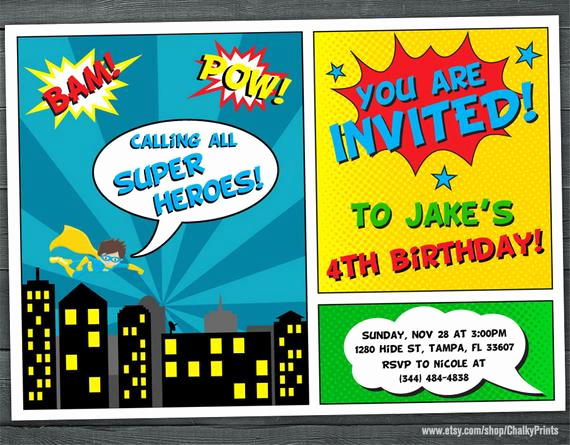 Superhero Birthday Invitation Wording Unique Superhero Invitation Superhero Party Invitation Kids