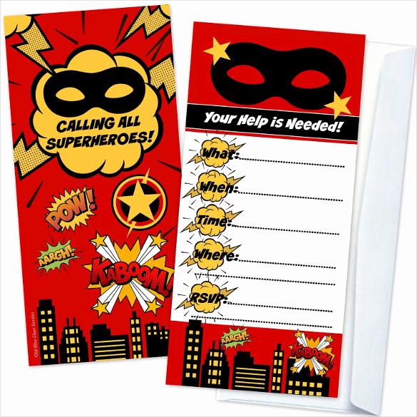 Superhero Invitation Template Download Best Of 30 Superhero Birthday Invitation Templates Psd Ai