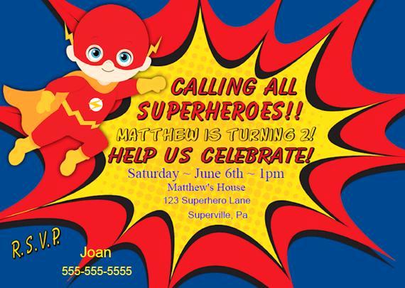 Superhero Invitation Template Download Luxury Flash Invitation Instant Download Superhero Birthday