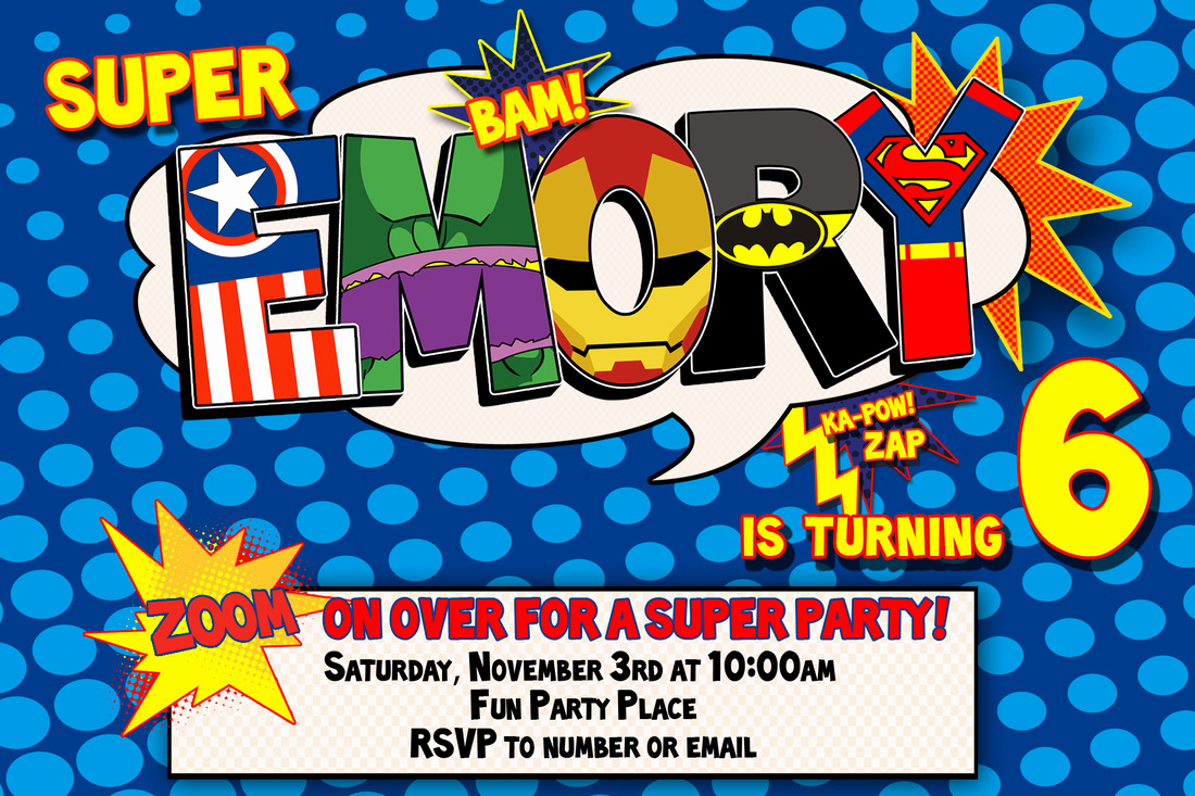 Superhero Invitation Template Free Beautiful Superhero Birthday Invitation Templates