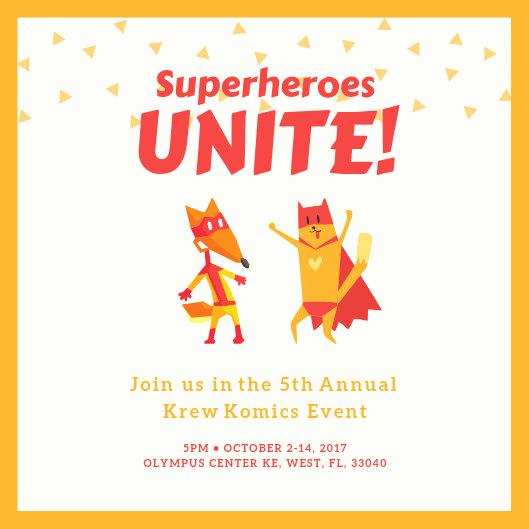 Superhero Invitation Template Free Best Of Customize 101 Superhero Invitation Templates Online Canva