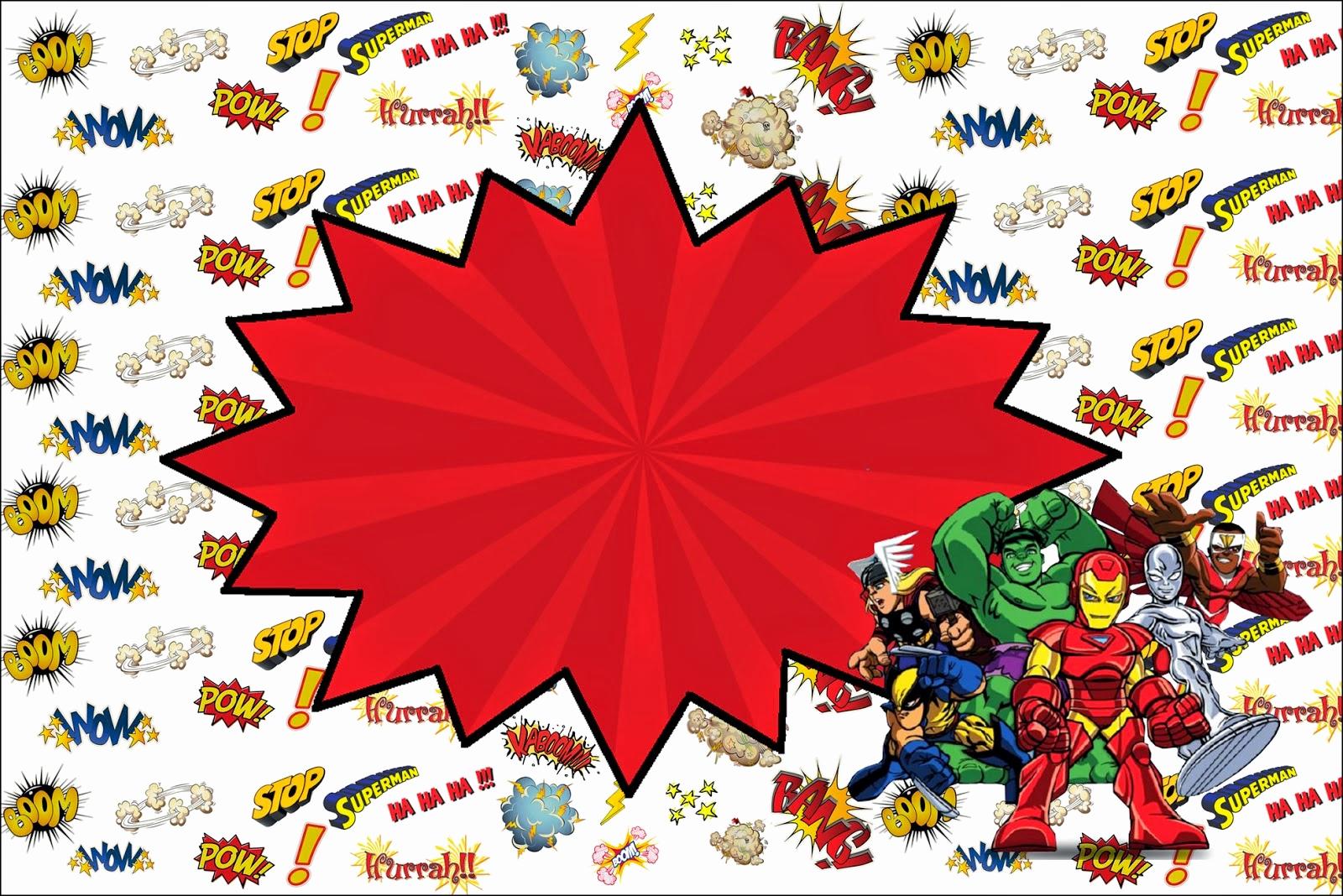 Superhero Invitation Template Free Fresh Marvel Superheroes Squad Free Printable Invitations