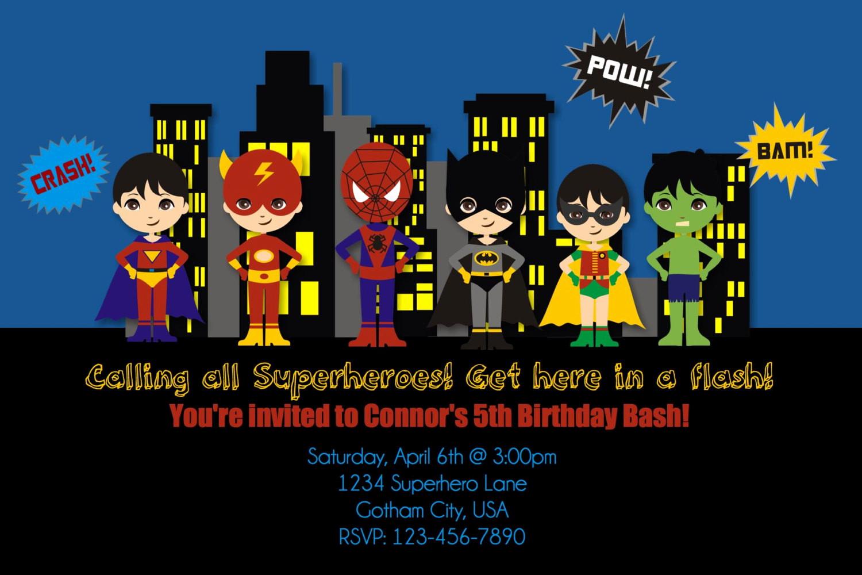 Superhero Invitation Template Free Inspirational Free Printable Superhero Birthday Invitations – Free