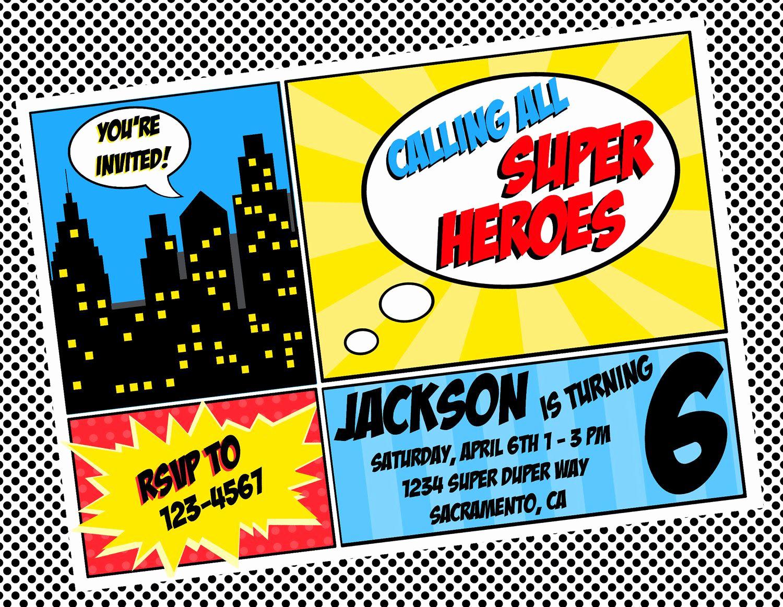 Superhero Invitation Template Free Lovely Free Superhero Invitation Templates Invitation Templates