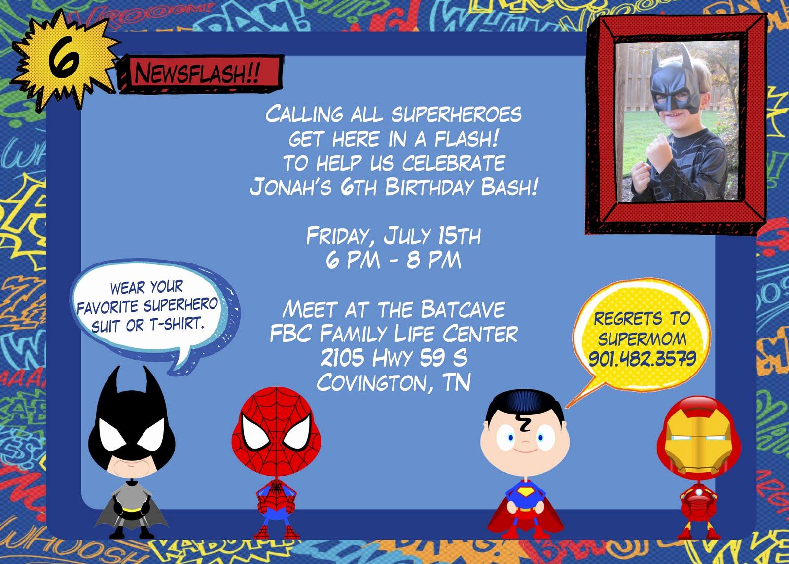 Superhero Invitation Template Free Lovely Superhero Birthday Invitation Templates