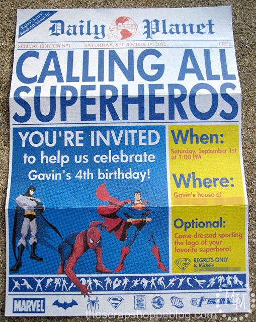Superhero Invitation Template Free Lovely Superhero Newspaper Birthday Invitation the Scrap Shoppe