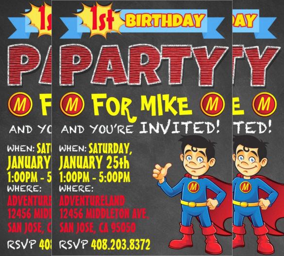Superhero Invitation Template Free Luxury 30 Superhero Birthday Invitation Templates Psd Ai