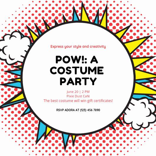Superhero Invitation Template Free Unique Customize 101 Superhero Invitation Templates Online Canva