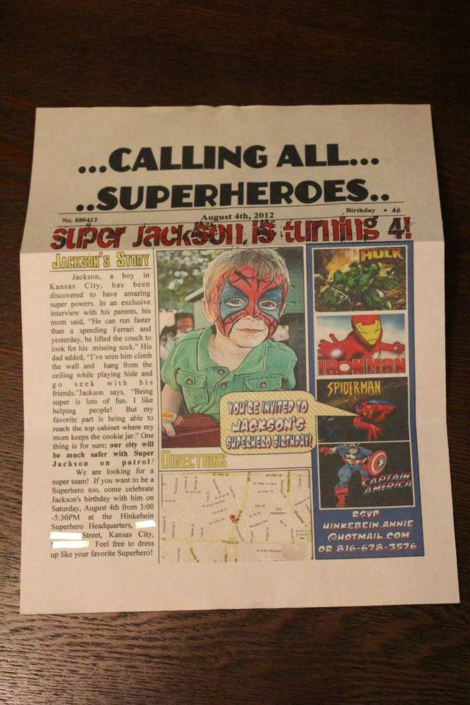 Superhero Newspaper Invitation Template Free Beautiful Superhero Birthday Party Ideas 2 Of 96