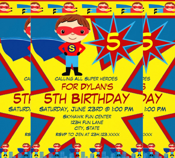 Superhero Newspaper Invitation Template Free Luxury 30 Superhero Birthday Invitation Templates Psd Ai