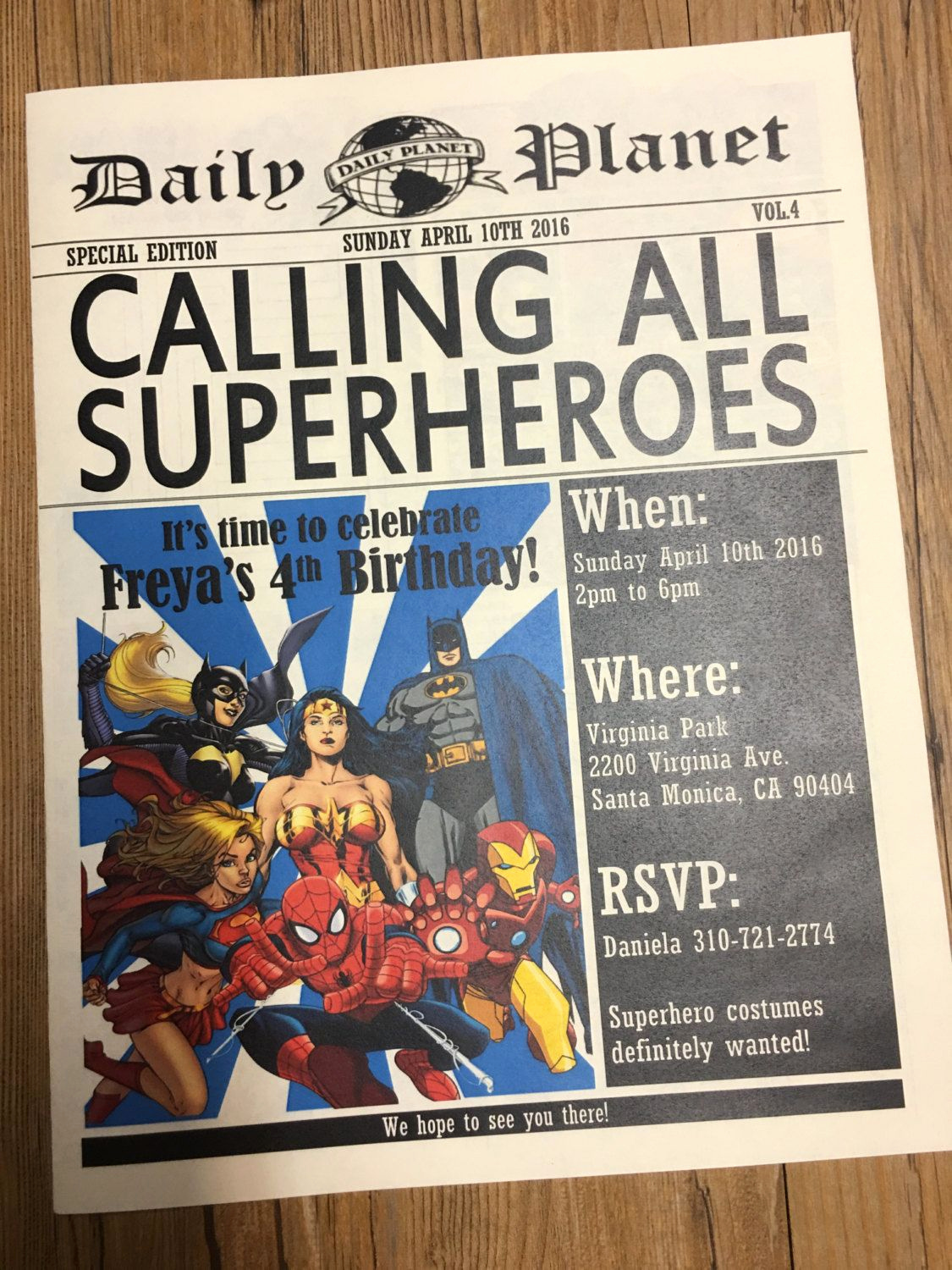 Superhero Newspaper Invitation Template Free Luxury Newspaper Invitation Superhero Invitation Daily