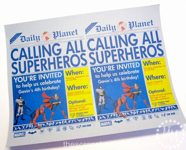 Superhero Newspaper Invitation Template Free New Superhero Newspaper Birthday Invitation the Scrap Shoppe