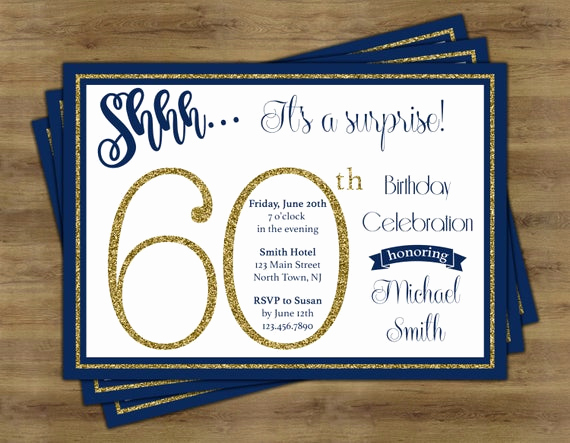 Suprise Birthday Party Invitation Beautiful Surprise 60th Birthday Invitation Surprise Birthday